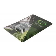 A6 kaart met blokjes pepermunt