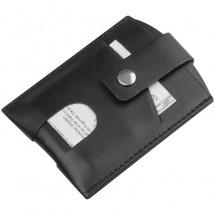 RFID lederen kaarthouder - zwart