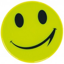 Sticker, reflecterend smile - geel