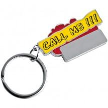 Sleutelhanger Call me - rood