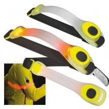 Veiligheids LED-armband - geel