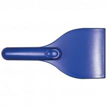 Kunststof frosted ijskrabber - blauw