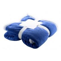 Coral fleece deken - blauw