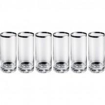 Set 6 longdrinkglazen - transparant
