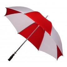 golfparaplu, handopening, diam. ca. 120 cm-rood/wit