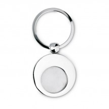 Sleutelhanger met munt EURING - zilver glans