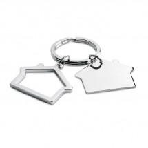 Sleutelhanger in huisvorm SNIPER - zilver glans
