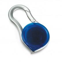 Rolmaat met karabijnhaak METRICA - transparant blauw