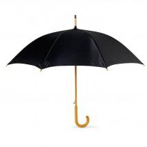 Paraplu met houten handvat CUMULI - zwart
