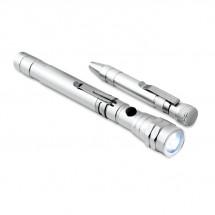 Aluminium multitool STRECH-TORCH SET - silver