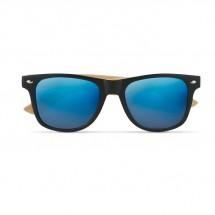 Zonnebril met bamboe frame CALIFORNIA TOUCH - blauw