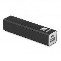PowerBank 2200 mAh POWERALU - zwart