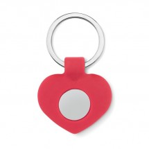 Siliconen sleutelhanger hart CUORE - red