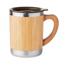 Dubbelwandige drinkbeker MOKKA - hout