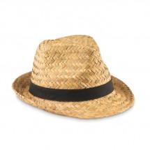 Stro hoed MONTEVIDEO - zwart