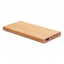 Draadloze bamboe powerbank ARENA - hout