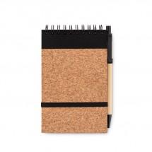 A5 kurk notitieboek met pen SONORACORK - zwart