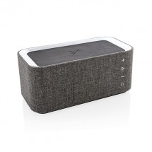 Vogue speaker met 5W draadloze oplader - grijs/zwart