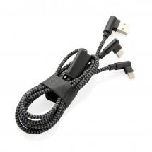 Swiss Peak luxe 3 in 1 kabel - zwart