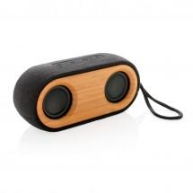 Bamboo X dubbele 10W speaker - zwart/bruin