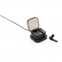 True wireless oordoppen en draadloze opladein oplaadbare box - zwart