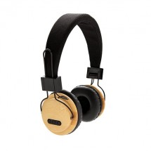 Bamboe draadloze hoofdtelefoon - bruin/zwart