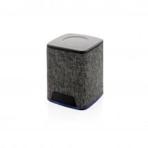 Light up logo 3W fabric draadloze speaker - grijs/grijs