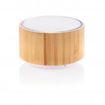 Bamboo 3W draadloze speaker - bruin/wit