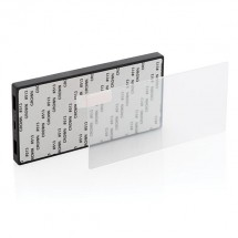 Tempered glass 5000 mAh powerbank, zwart - zwart