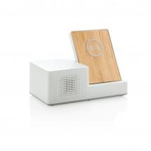 Ontario draadloze oplader met speaker - wit