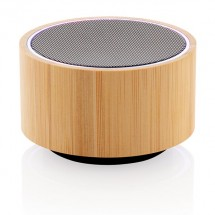 Bamboo 3W draadloze speaker, zwart - zwart