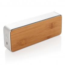 Nevada Bamboe draadloze 3W speaker, grijs - grijs/zwart