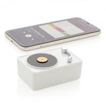 Mini Vintage 3W draadloze speaker - wit/zwart