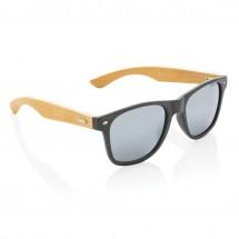 Tarwevezel en bamboe zonnebril, zwart - zwart