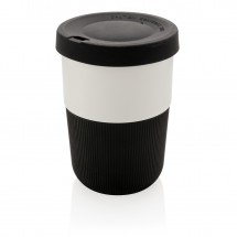 PLA cup coffee to go 380ml, zwart - zwart