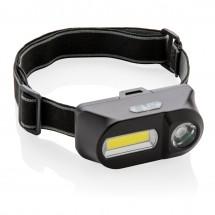COB en LED hoofdlamp - zwart