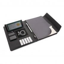 Fiko A4 portfolio met draadloos opladen& 5.000 mAh powerbank - zwart