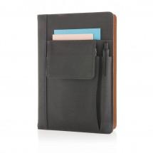 Notitieboekje met vakje voor telefoon, zwart