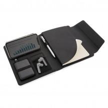 Fiko A5 portfolio met draadloos opladen & 5000mAh powerbank - zwart
