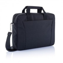 PVC vrije 15 exhibition laptop tas, zwart