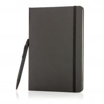 A5 basic hardcover notitieboek met touchscreen pen, zwart