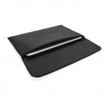 """Magnetisch sluitende 15.6"""" laptop sleeve PVC-vrij, zwart - zwart"""