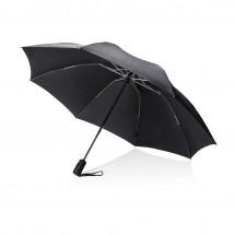 Swiss Peak 23 opvouwbare reversible auto open/sluit paraplu - zwart