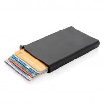 Standaard aluminum RFID kaarthouder, zwart - zwart