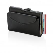 C-Secure RFID kaarthouder &portenonnee met munt vakje, zwart