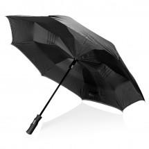 "Swiss Peak 23"" auto open reversible paraplu, zwart"