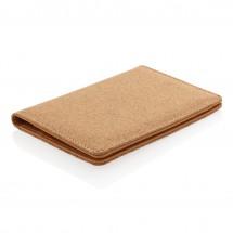 ECO kurk RFID paspoort houder - bruin
