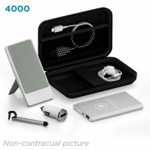 Deluxe traveling kit 4000 mAh - zwart