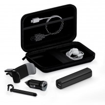 Deluxe traveling kit 2200 mAh - zwart
