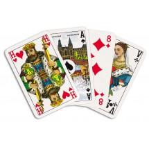 Bridge Speelkaartenkarton (Corona), verpakt in cellofaan en kartonnen vouwdoosje